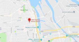 Comprehensive Life Resources, Tacoma, Pierce County, 3W 1301 Tacoma, La Center, U.S. Oil & Refining, Washington United Terminals, University of Washington Tacoma Campus, Tacoma Center YMCA, Happy Belly Restaurant & Juice Bar, Tacoma Brewing Company, Kidder Mathews