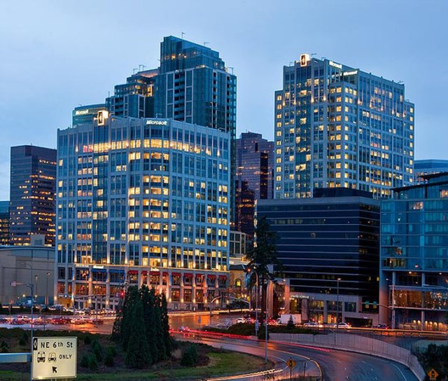 Bravern Office Commons, Microsoft, Bellevue, F5 tower, The Summit, Invesco, Principal Real Estate Investors, Hines, Triton Towers