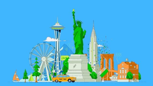 Robinhood, Seattle, New York, Pike Place, Wall Street