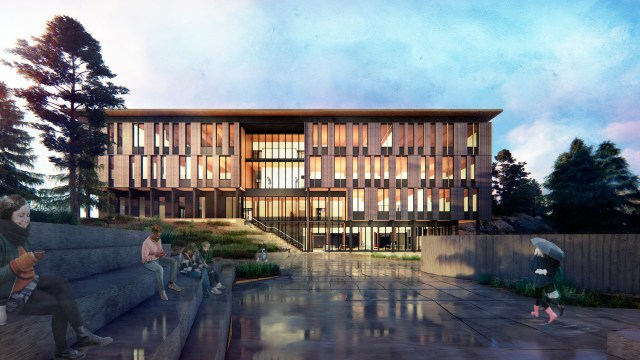 SRG Partnership, Edward J. Ray Hall for Oregon State University's Cascades Campus, Portland, Ray Hall, AEI, Catena Consulting Engineers,