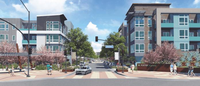 Foster City, The New Home Co., Atria Senior Living, MidPen Housing, Lennar, Foster Square, Silicon Valley, San Francisco, BAE Urban Economics, Peninsula