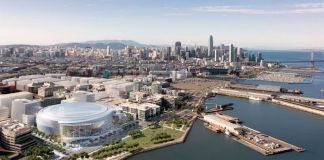 Warriors, Golden State Warriors, Mission Bay, San Francisco, Salesforce, steelblue, NBA, arena