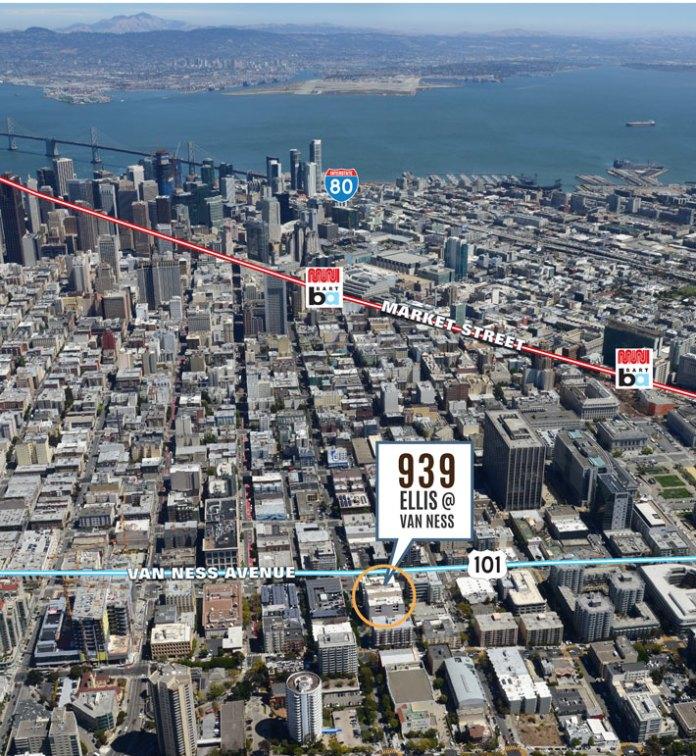 San Francisco, Columbia Pacific Advisors, Newmark Cornish & Carey, Mid-Market, Bay Area, 939 Ellis