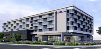 Hilton Garden Inn Hotel San Carlos SWENSON Huntington Hotel Group ACRM Architects Commercial Industrial Road Brittan Avenue