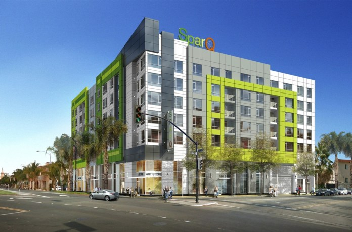 CORE Companies, Sparq apartments, SoFA Arts District, Studio-M Interiors, Silicon Valley, BDE Architects, CMR Capital Group, Terra Capital, Capital Source