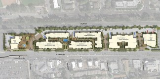 Stanford University, El Camino Real, Stanford Middle Plaza, City Council, project, non-medical office buildings, rental apartments, public plaza