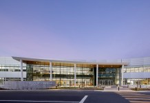 Redwood City, Calif. Design Tech High School, Silicon Valley, Belmont Slough, Oracle Conference Center, XL Construction, DES Architects + Engineers, Oracle Education Foundation, San Francisco Bay, Oracle's Fitness Center, San Mateo County
