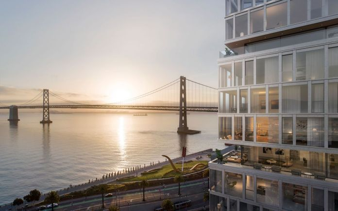 John Buck Company, Paramount Group, SRE Group, One Steuart Lane, Bay Bridge, Ferry Building, SOM, Rottet Studio, West Coast, San Francisco