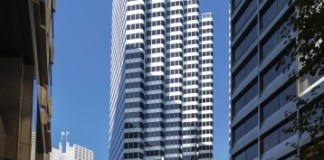 First Republic Bank, San Francisco, Paramount Group, Invesco Real Estate, Florida State Board of Administration, Philz Coffee, Coast Poke, Front Door Café, Transbay Transit Center, BART, One Front Street