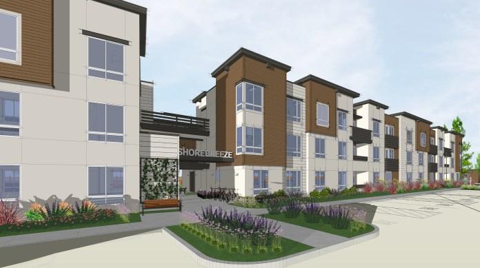 Mountain View, Housing Trust of Silicon Valley, Shorebreeze Apartments, MidPen Housing, Silicon Valley, San Francisco, Bay Area, Caltrain, Santa Clara County Housing Authority, DAHLIN Group Architects, CORE Builders, Union Bank