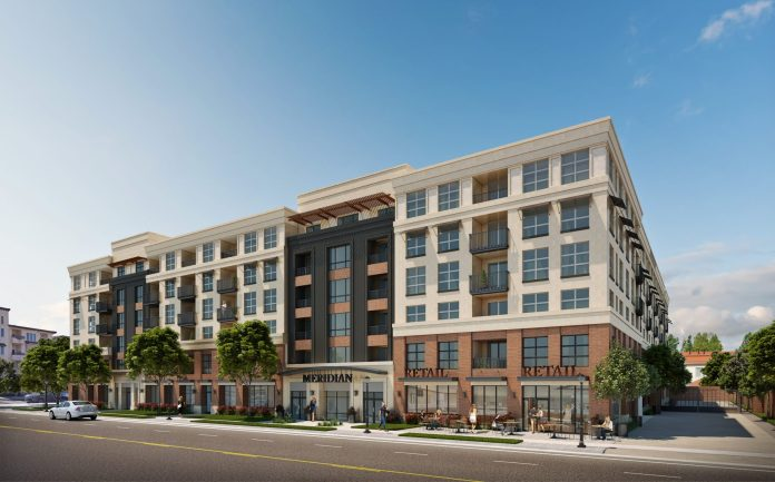 ROEM Development Corporation, San Jose, Meridian Apartments, Marketplace at the Grove, Withee Malcolm Architects