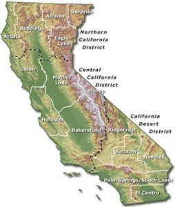 BLM-California contains 15 field offices: Alturas, Arcata, Bakersfield, Barstow, Bishop, Eagle Lake, El Centro, Mother Lode, Hollister, Needles, Palm Springs, Redding, Ridgecrest, Ukiah, and Surprise.