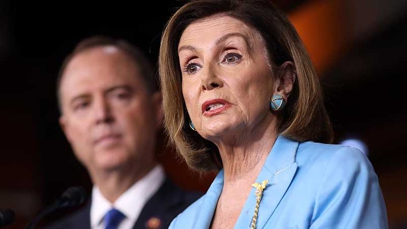Watch As Nancy Pelosi announces she's sending Rep. Adam Schiff to the Senate to lead the Democrats Impeachment hoax against President Trump