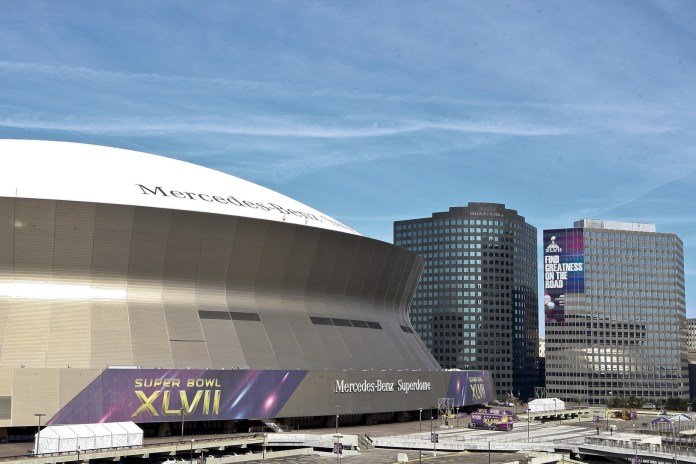 Jan 21, 2013; New Orleans, LA, USA; A general view outside of the Mercedes-Benz Superdome. Mandatory Credit: Derick E. Hingle-USA TODAY Sports