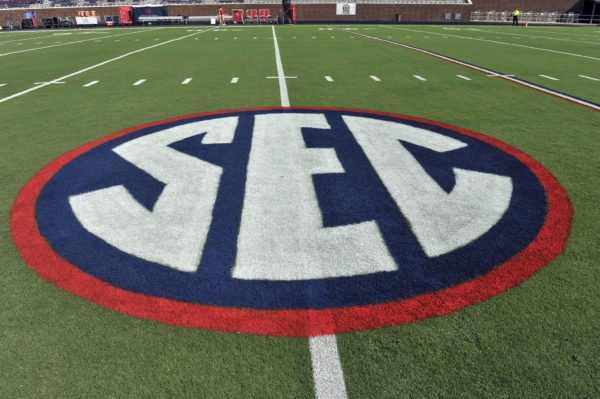 SEC logo. Credit: Justin Ford-USA TODAY Sports
