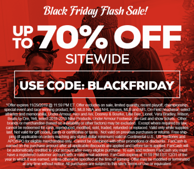 TideFansStore.com : Up to 70% off 1159pm on Black Friday. TideFans.com may receive a commission when you click on the link and purchase something. We thank you for helping the site!