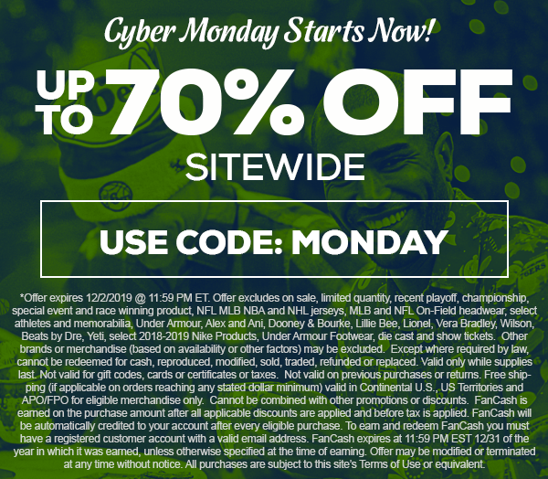 TideFansStore.com : Up to 70% off. Ends on 12/2 at 1159pm EST for Cyber Monday. TideFans.com may receive a commission when you click on the link and purchase something. We thank you for helping the site!