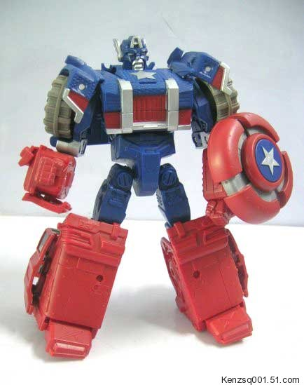America Transformers Marvel Captain Crossovers