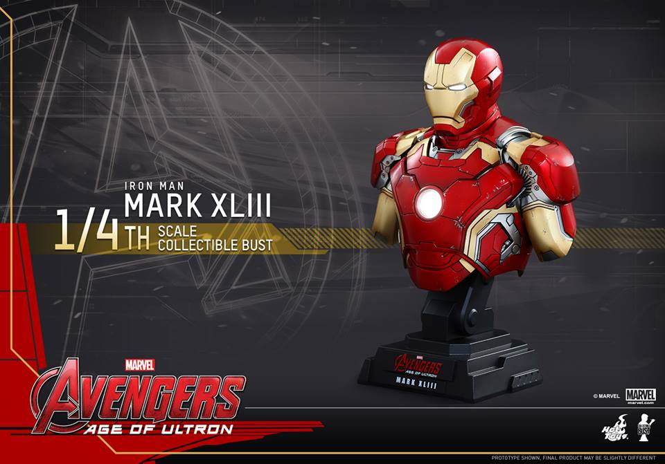 Avengers Age of Ultron Quarter Scale Iron Man Bust 2