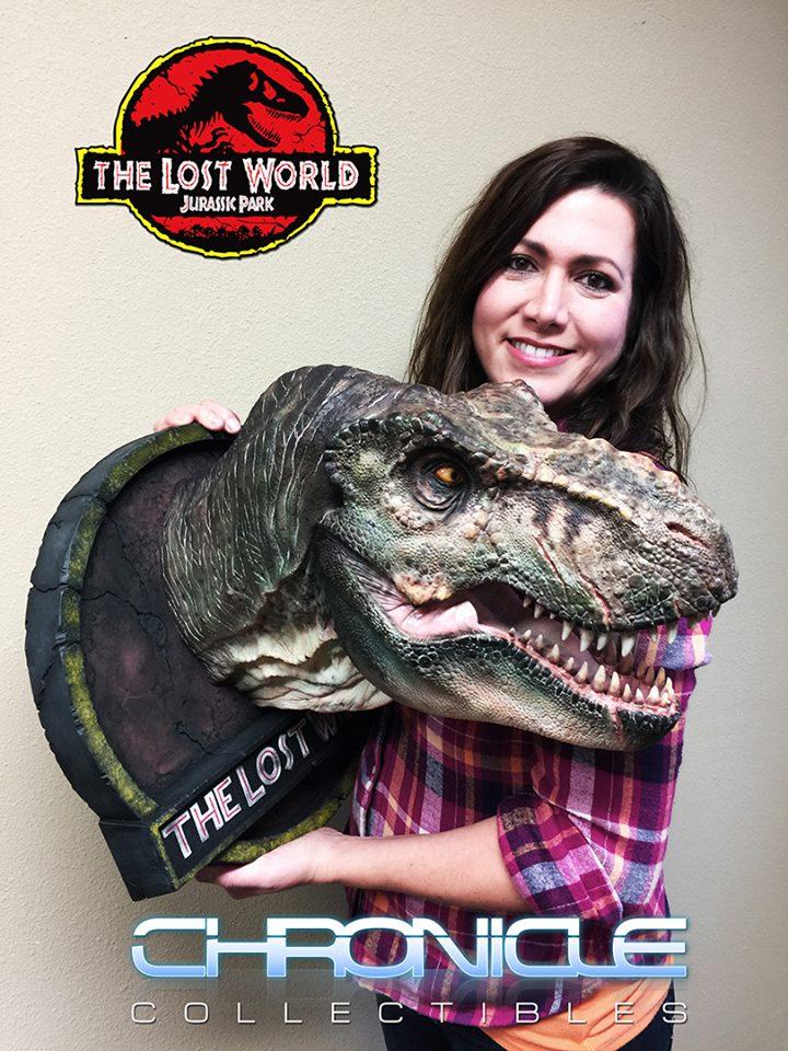 Lost World Jurassic Park T Rex Bust 004