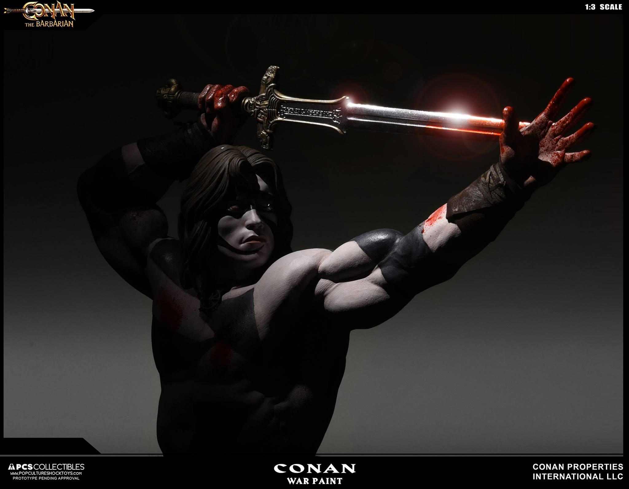 PCS Conan Statue Warpaint 006