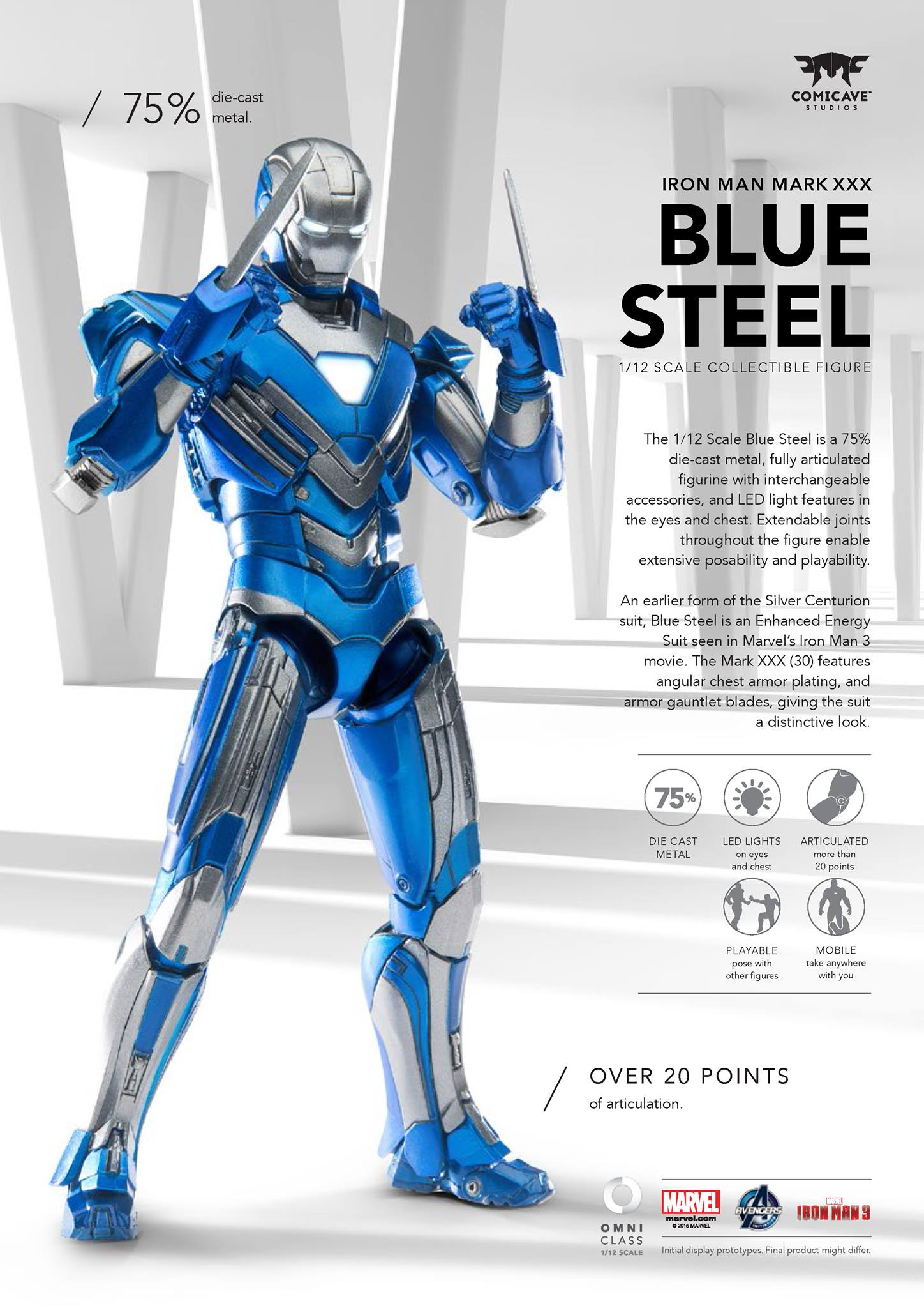 Comicave Iron Man Blue Steel 001