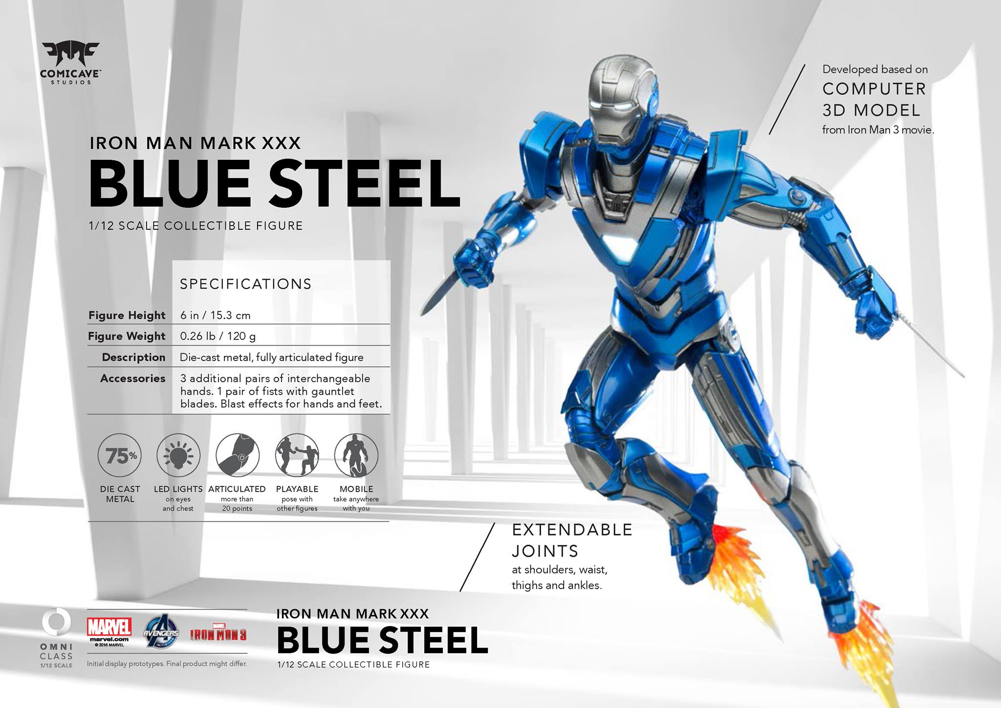 Comicave Iron Man Blue Steel 006