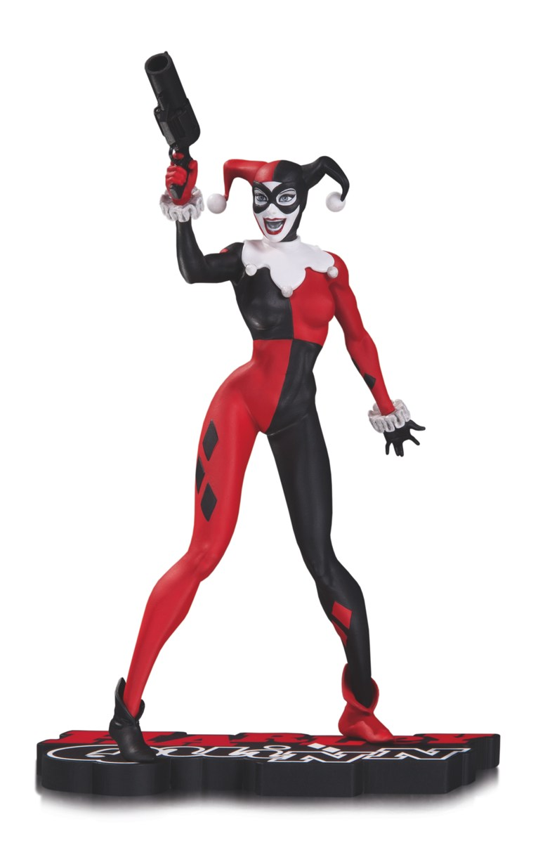 DCC Harley Quinn Red White and Black Statue