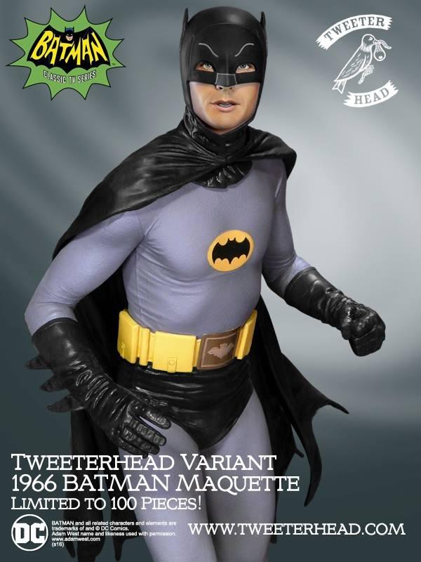 Tweeterhead Batman 1966 Noir Maquette 1