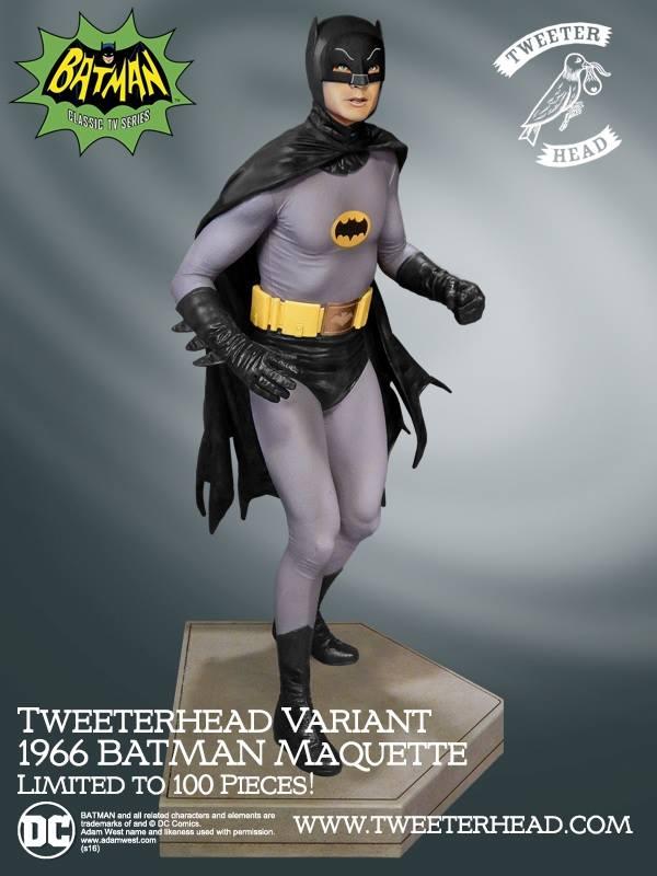 Tweeterhead Batman 1966 Noir Maquette 2