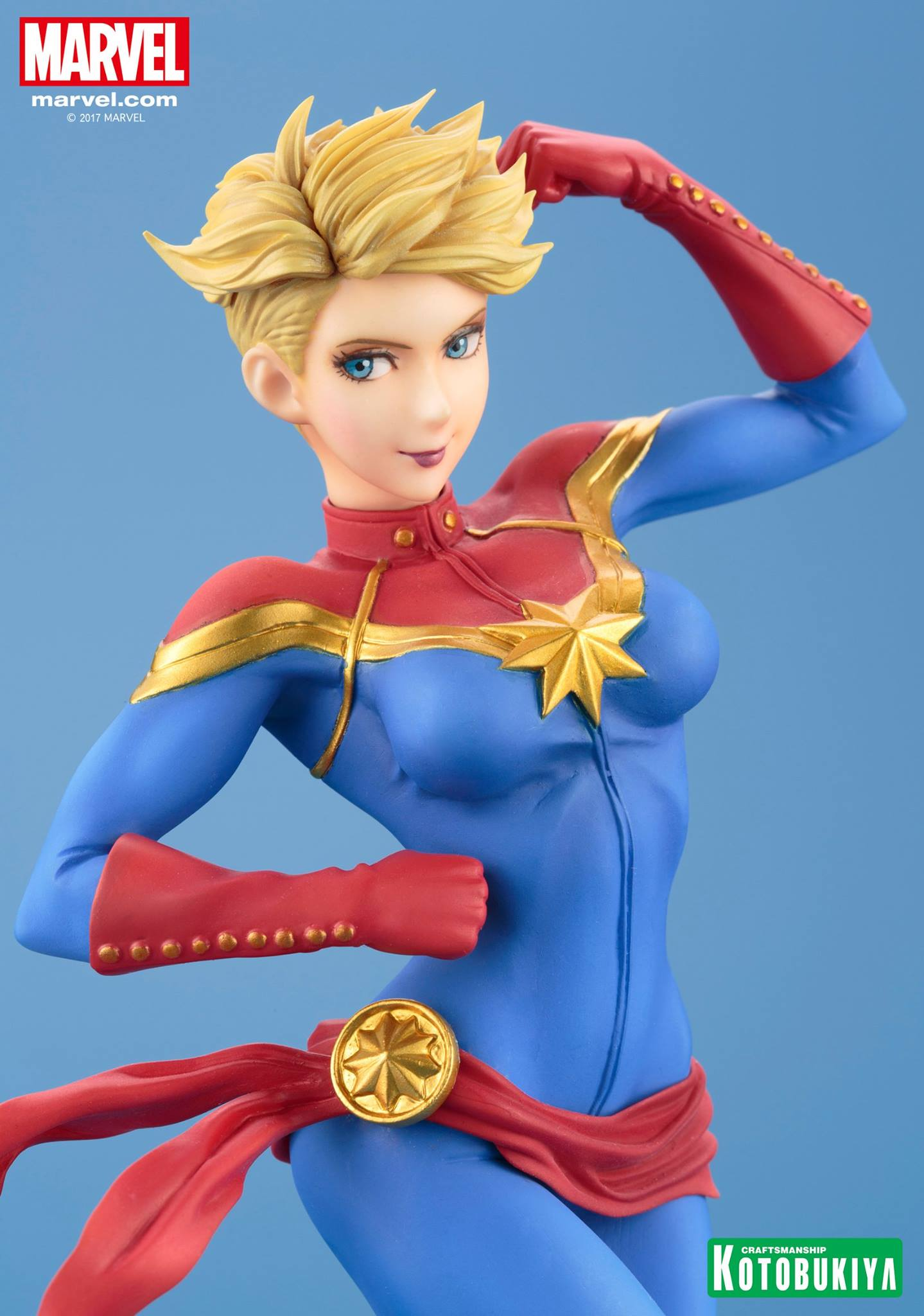 Kotobukiya Captain Marvel Bishoujo Statue The Toyark News