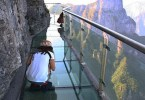 الجسر الزجاجي في Tianmen Mountainتشانغجياجيه، الصين