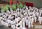 لحظة وصول الحجاج إلى مطار الملك عبدالعزيز الدولي في جدة