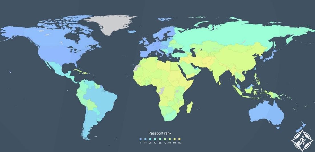 تعرف على ترتيب جوازات السفر في العالم 2016 (قائمة كاملة)