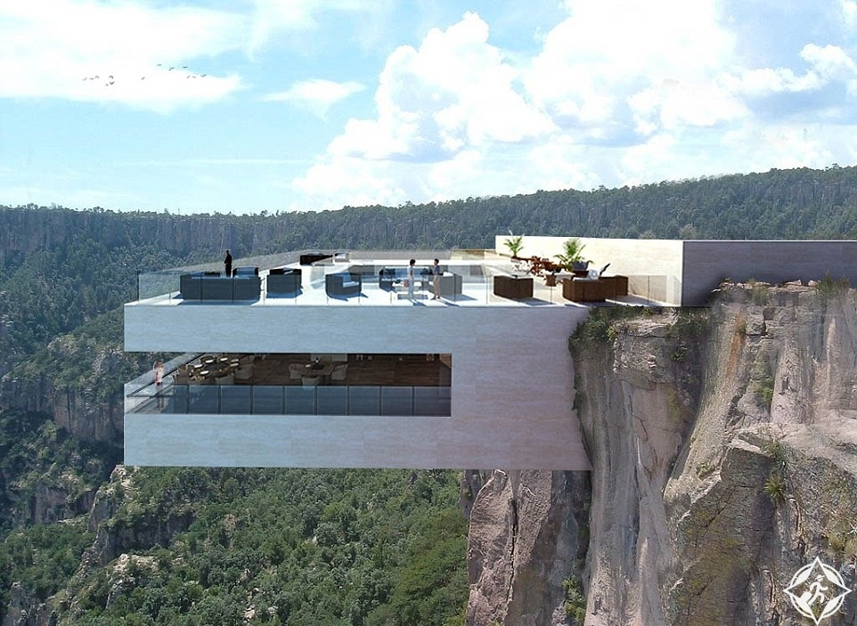 بالصور.. المكسيك تبنى مطعما زجاجيا فوق جرف عالٍ