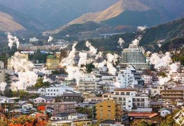 مدينة الينابيع الحارة في اليابان