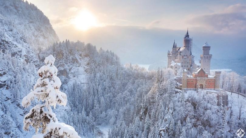 ألمانيا-بافاريا-قلعة-نويشفانشتاين-ثلوج-منتصف-الشتاء