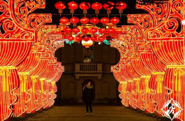 بريطانيا-لندن-حدائق تشيسوك-مهرجان المصابيح السحرية