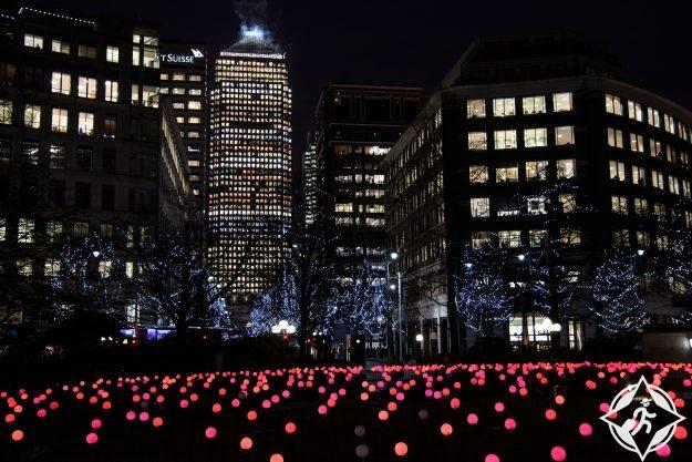 بريطانيا-لندن-كناري وارف-مهرجان أضواء الشتاء كناري وارف 6