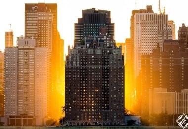 الغروب في مانهاتن