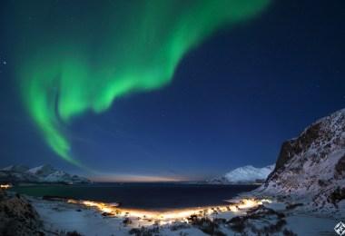الأضواء الشمالية في شمال النرويج