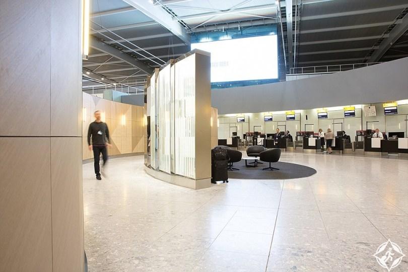 الجناح الأول في مطار هيثرو