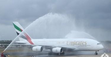 طيران الإمارات تسير الإيرباص 380 إلى كولومبو