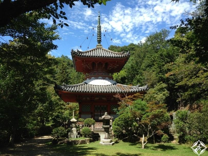 المعالم السياحية في هيروشيما - ميتاكي-ديرا ومعابد فودوين