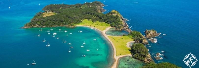 السياحة في نيوزيلندا - خليج الجزر