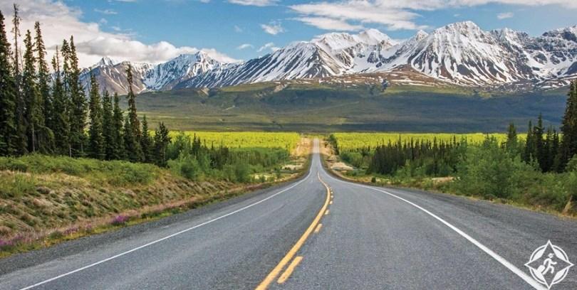 معالم الجذب السياحي في ألاسكا - طريق ألاسكا السريع