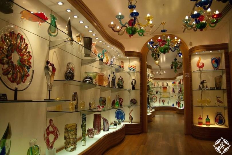 البندقية - صناعة الزجاج في مورانو