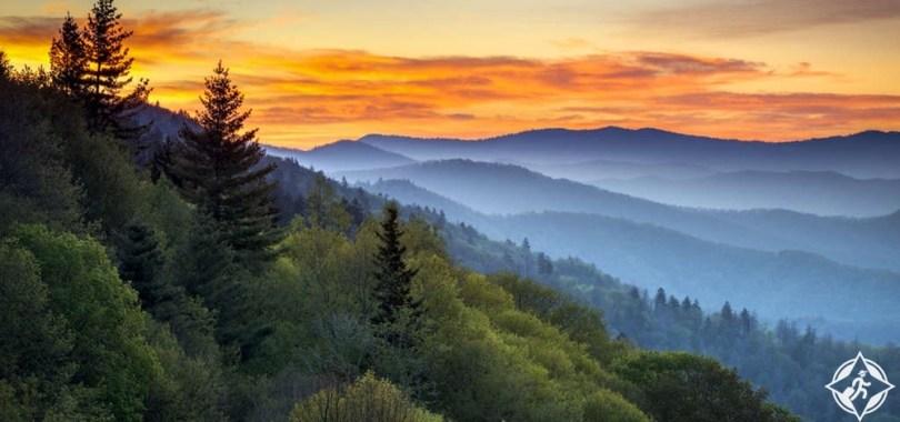 كارولاينا الشمالية - حديقة جبال سموكي العظيمة الوطنية