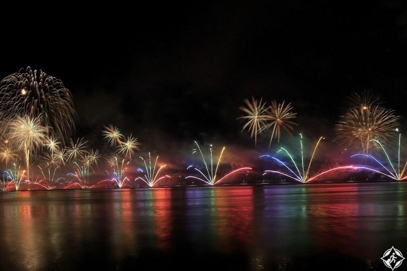 نخلة جميرا احتفال رأس السنة