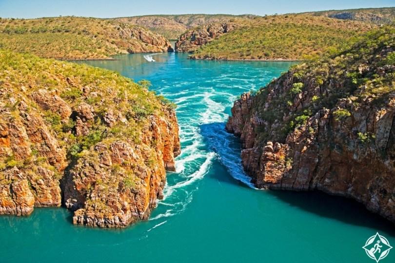 أستراليا الغربية - الشلالات الأفقية